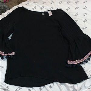 Japan kids size 12 black shirt